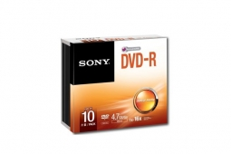 Sony 10 DVD-R 4.7GB 16x Slim Case