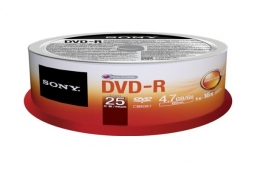 Sony 25 DVD-R 4.7GB 16x Spindle