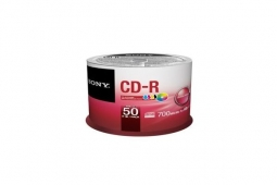 Sony 50 CD-R 700MB 48x Spindle Printable