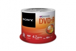 Sony 50 DVD-R 4.7GB Spindle / Cakebox