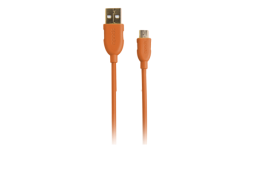 Spada Ladekabel microUSB 1.50m orange