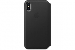 Apple Leather Folio Case iPhone X black