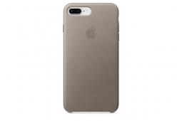 Apple Leather Case iPhone 8+/7+ Taupe