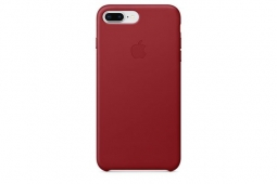 Apple Leather Case iPhone 8+/7+ red