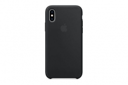 Apple Silicone Case iPhone XS black