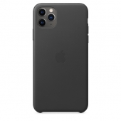 Apple iPhone 11 Pro Max Leather Case bla